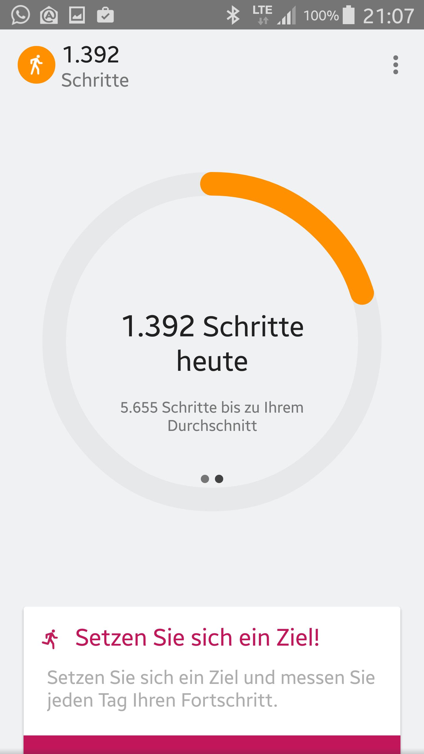 schrittzähler ohne app
