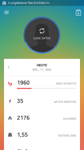 runtastic me screen